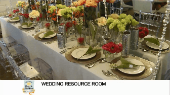 Wedding resource room from Waukesha Floral