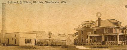 Schneck & Bliese Florist shop in 1904