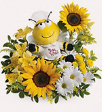 Get well soon flowers with sunflowers