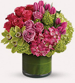 Thank you present floral arrangement