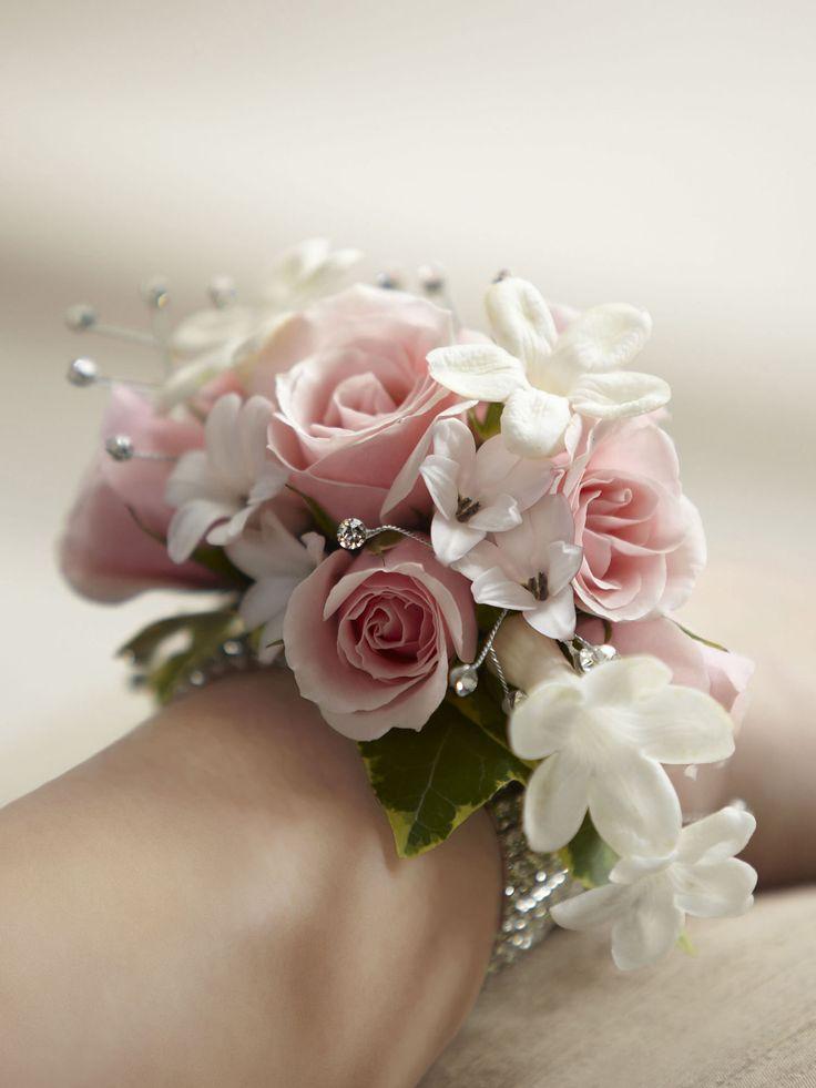 Pink white corsage