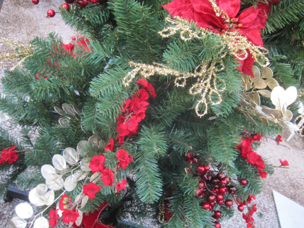 The next items on my tree are the stems of berries, flowers and leaves, dispersed evenly.